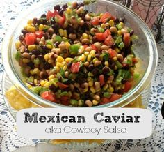 This recipe is UH-MAY-ZING! If you are not a fan of the tomato-base or spicy salsa, this is the salsa for you! It's tangy, a little bit sweet, and delicious enough to eat by the spoonful - let alone with chips also! It's the perfect ligh...