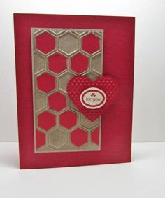 Honeycomb Valentine's by nancy littrell - Cards and Paper Crafts at Splitcoaststampers