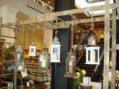 hanging lanterns. for outside maybe?