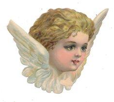 Glanzbilder - Victorian Die Cut - Victorian Scrap - Tube Victorienne - Glansbilleder - Plaatjes : Engelsgesichter