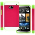 CellJoy Hybrid TPU 2PC Layered Hard Case Rubber Bumper for HTC ONE M7 (At