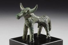 Geometric Bronze Bull | 8th Century BC | Price $7,400.00 | Geometric Greek | Bronze | Animals, Sculpture | eTiquities by Phoenix Ancient Art