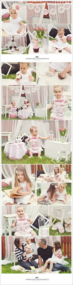 Tea Party- Ruby's 1st birthday baby photo session, children ideas, birthday party ideas, dream, pink, girl, Edinburgh Portrait photographer Karolina Kotkiewicz Photography UK www.kkotkiewicz.co.uk
