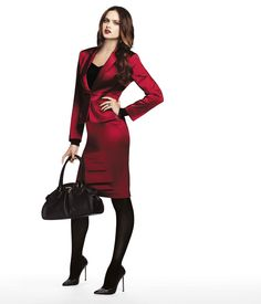 @bebe stores Holiday 2012...this sleek red suit just screams holiday!