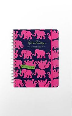 2014 Lilly Monthly Planner- love the colors and the elephants!