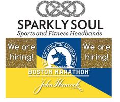 @sparklysoulinc is hiring for @BostonMarathon expo this week! If you live in the area and are interested in details please email socialmedia@sparklysoul.com! The hours are: Thursday, April 16th 12 p.m. - 5 p.m. (set up) Friday, April 17th, 1 p.m. - 7:00 p.m. Saturday, April 18th, 8 a.m. - 6:00 p.m. Sunday, April 19th, 8:00 a.m. - 7 p.m. Please email us letting us know your availability - we are looking to hire for full days and multiple days!