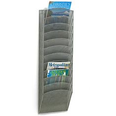Keep track of common used papers, daily work for absent students, etc. $59.00  The Container Store > 12-Pocket Mesh Wall Rack