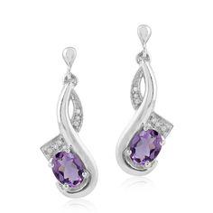 Pink Amethyst White Topaz Designer Silver Dangle Earrings Women's Gift Jewelry #Unbranded #DropDangle