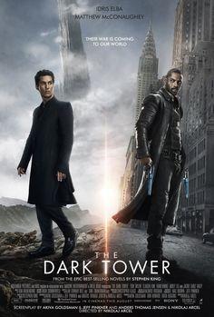 Stephen King's: 'The Dark Tower' - Idris Elba and Matthew McConaughey. Films Hd, Hd Movies, Movies To Watch, Movies Online, The Dark Tower 2017, Dark Tower Movie, Matthew Mcconaughey, New Movie Posters, New Poster