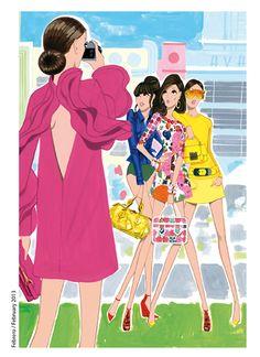 Colaboración con la revista Vogue Japón 2013