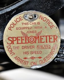 """Jones Spedometer...""""the driver knows his speed"""""""