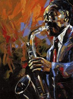 Kai Fine Art is an art website, shows painting and illustration works all over the world. Jazz Painting, Figure Painting, Art Black Love, Jazz Players, Jazz Artists, Music Artwork, African American Art, Blue Art, Jazz Music