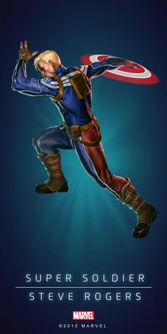 #Captain America #Fan #Art. (STEVE ROGER SUPER SOILDER IN: MARVEL'S PUZZLE QUEST!) BY: AMADEUS CHO! ÅWESOMENESS!!!™ ÅÅÅ+(IT'S THE MOST ADDICTING GAME ON THE PLANET, YOU HAVE BEEN WARNED!!!)