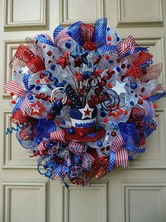 Deco mesh wreath ideas memorial day patriotic of decorations valentine diy dollar tree . Patriotic Hats, Patriotic Wreath, 4th Of July Wreath, Art Clipart, Image Clipart, Wreath Crafts, Diy Wreath, Wreath Ideas, Wreath Making