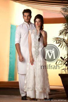 Pakistani Formal Dresses Men's And Women 2014 Mifrahs Pinned by Zartashia