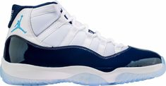 For Sale: Nike Air Jordan Retro 11 Win Like 378037 Colorway: White/Midnight Navy-University Blue. Nike Air Jordan Retro, Air Jordan Shoes, Adidas Women, Nike Men, Nike Free Runners, Popular Shoes, Air Jordans, Jordans Sneakers, Shoes Online