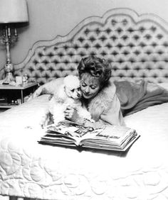 Lucille Ball and her puppy