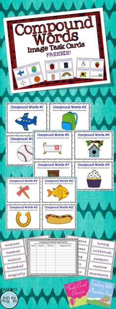 Compound Word Task Card Freebie!