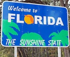 Welcome to Florida. A Florida State welcome sign at the State line , Florida Girl, State Of Florida, Florida Home, South Florida, Orlando Florida, Florida Law, Visit Florida, Legoland Florida, South Miami