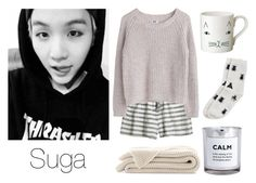 """""""Cuddling with Suga"""" by btsoutfits ❤ liked on Polyvore featuring Calypso St. Barth, MTWTFSS Weekday, Donna Wilson, Monki and H&M"""
