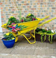 upcyced wheelbarrow for the garden, crafts, gardening, how to, painting, repurposing upcycling