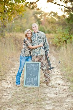 """""""The Hunt is Over"""" Engagement Session Theme! In this picture I will have my bow and they will be compounds   www.caylanvanaman..."""