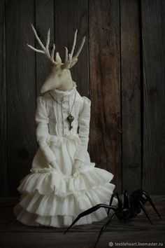 Textile Art Doll Deer Galatea – shop online on Livemaster with shipping