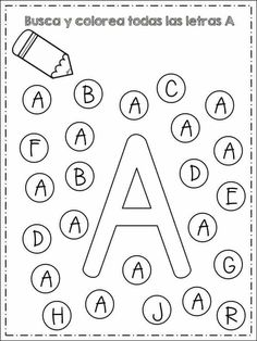 Kindergarten Writing Activities, Kindergarten Addition Worksheets, Life Skills Activities, Preschool Education, Alphabet Worksheets, Teach English To Kids, Dot Letters, English For Beginners, Do A Dot