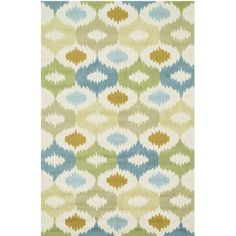 x blue green tan pattern hand tufted wool china area rug - Colorful Area Rugs