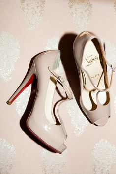nude Louboutin Mary Janes // photo by Levi Stolove Shoe Boots, Shoes Heels, Pumps, Nude Heels, Louboutin Shoes, Bridal Shoes, Wedding Shoes, Wedding Attire, Crazy Shoes