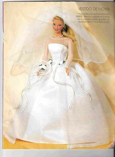 barbie wedding dress free pattern, plus more barbie clothes free pattrns. Gotta try soon!