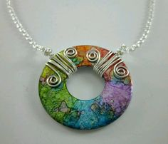Washer pendant with wirework bail
