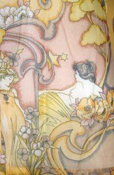 Art Nouveau Print Vintage 70s Top