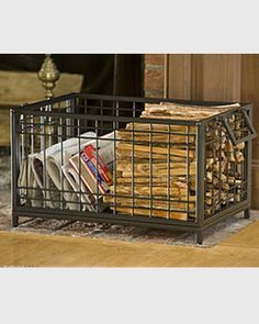 Kindling Holder - traditional - fireplace accessories - by Gardener's Supply Company