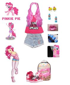 """MLP - Pinkie Pie!"" by simone-blakely ❤ liked on Polyvore featuring Levi's, My Little Pony, Sweet & Co., Sprayground and DC Shoes"