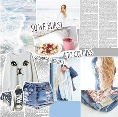 """So we burst into colours. colours & carousels . ♥"" by heyyitskim ❤ liked on Polyvore"