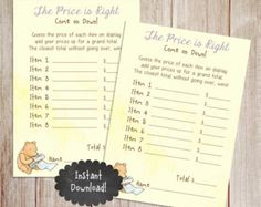 Printable Winnie the Pooh Baby Shower story by PoppinPaperParties
