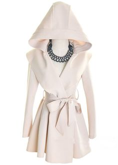 Chic Hooded Trench Coat//