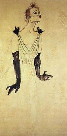 Yvette Guilbert Taking a Curtain Call - Henri de Toulouse-Lautrec, 1894 Henri De Toulouse Lautrec, Maurice Utrillo, Free Art Prints, Curtain Call, Klimt, Renoir, William Morris, Pablo Picasso, Monet