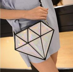 2017 geometria Moda pacote Diamante holograma saco de bolsas de Couro bolsa de ombro Cadeia Diagonal pequenos sacos para as mulheres do Sexo Feminino sacos em Bolsas de Ombro de Bagagem & Bags no AliExpress.com | Alibaba Group