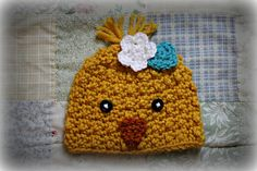 This chick hat by Heather Singell is so cute for Spring! Make it with Vanna's Choice - find the crochet pattern on Ravelry.