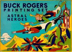 Buck Rogers Printing Set - Astral Heroes - (mid century modern, space age toys, crafts)
