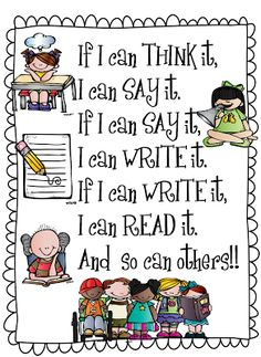 First Grade Wow- sharing our new little poster about writing to read! Free printable! :)