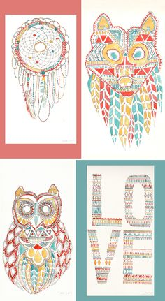 Designer Focus: Lina Moysis - Designs we are already seeing everywhere that are inspired by the trib Native American Nursery, Native American Decor, Aztec Nursery, Baby Girl Nursery Themes, Teen Art, Teen Girl Rooms, Childrens Room Decor, Nursery Inspiration, Room Themes