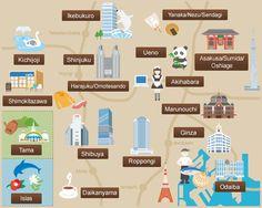 Presentación de cada zona / Portal Oficial de Turismo de Tokyo GO TOKYO