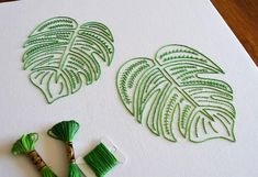 Vintage Embroidery Designs A hand embroidery pattern by needlework designer Kelly Fletcher Embroidery Leaf, Hungarian Embroidery, Learn Embroidery, Hand Embroidery Stitches, Modern Embroidery, Embroidery For Beginners, Hand Embroidery Designs, Vintage Embroidery, Embroidery Techniques