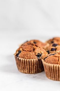 Oatmeal Banana Blueberry Muffins - perfectly sweet, soft and moist and grain-free. The best healthy muffins you'll ever make! Healthy Muffin Recipes, Healthy Muffins, Banana Bread Recipes, Healthy Food, Blueberry Oatmeal Muffins, Blue Berry Muffins, Nutritious Breakfast, Savory Breakfast, Whole Wheat Banana Bread
