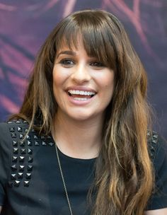 Lea Michele's textured, rocker layers and charcoal liner