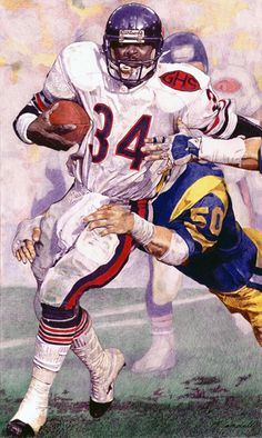 Walter Payton, Chicago Bears by Matthew Campbell (1996)