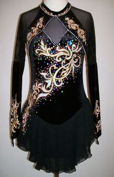Ice/Roller Figure skating dress/Baton Twirling outfit/Dance Costume Made to Fit | eBay